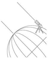 De telescoop moet perfect uitgelijnd zijn, parallel met de aardas, wijzend naar de noordelijke hemelpool (NCP)